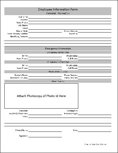 employee information form excel Kleo.beachfix.co