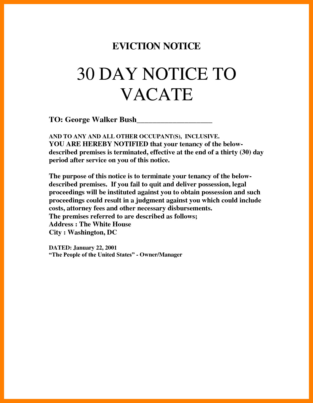 8+ 30 day eviction letter | 3canc
