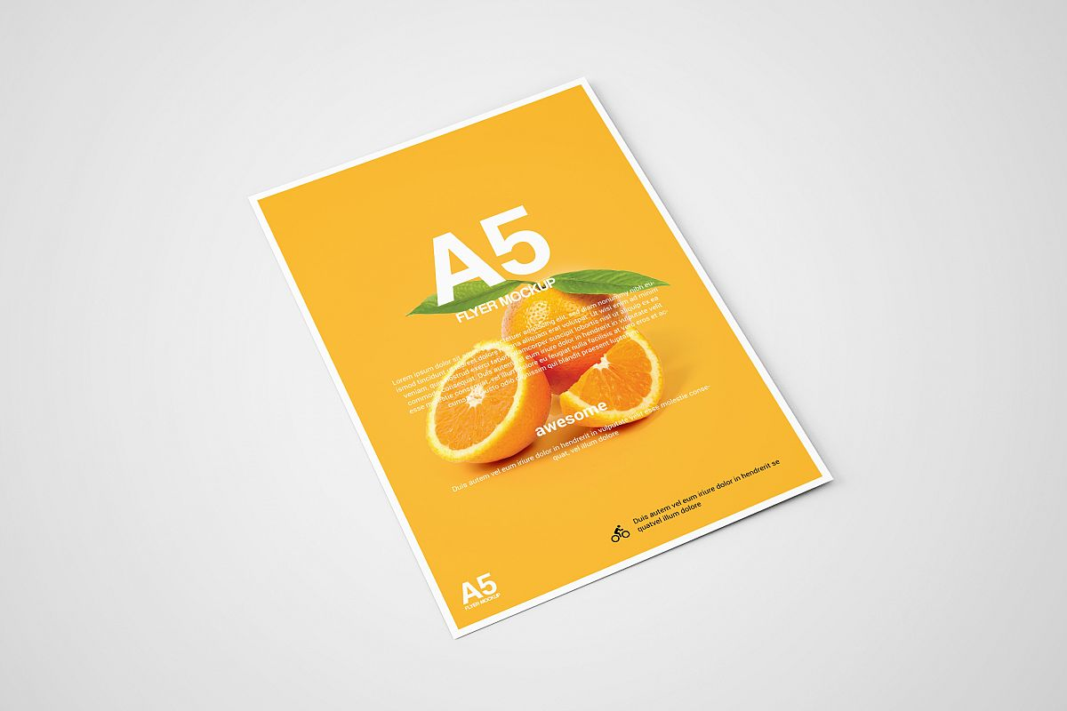 A5 FLYER MOCKUP by ToaSin Studio | Design Bundles
