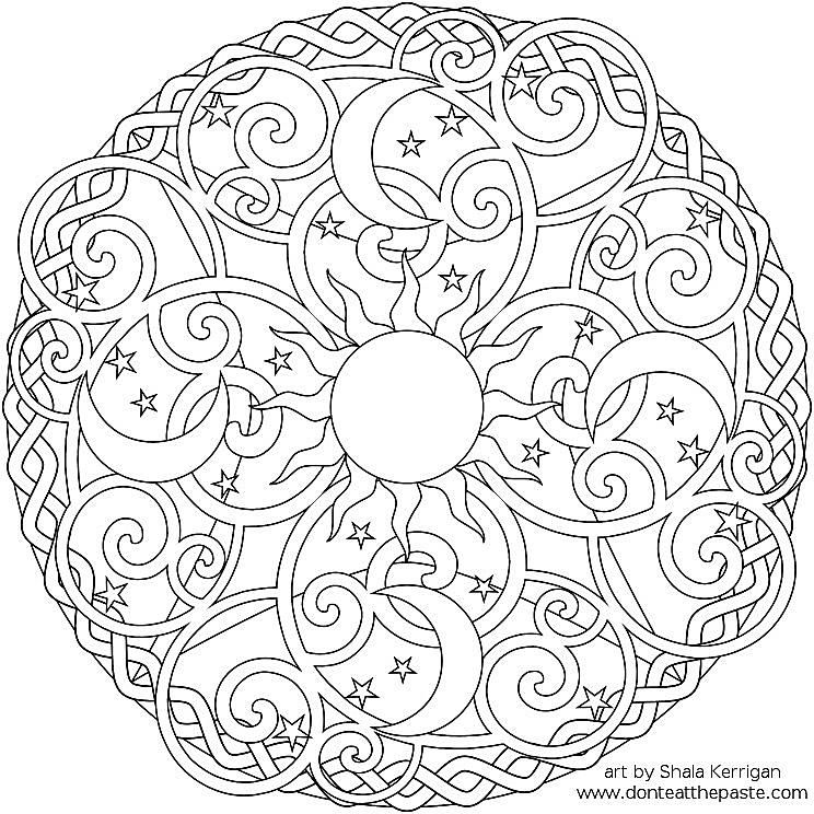 Free Mandala Coloring Pages Ender Realtypark Co Printable