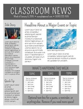 Newsletter Templates Editable | class news | Pinterest
