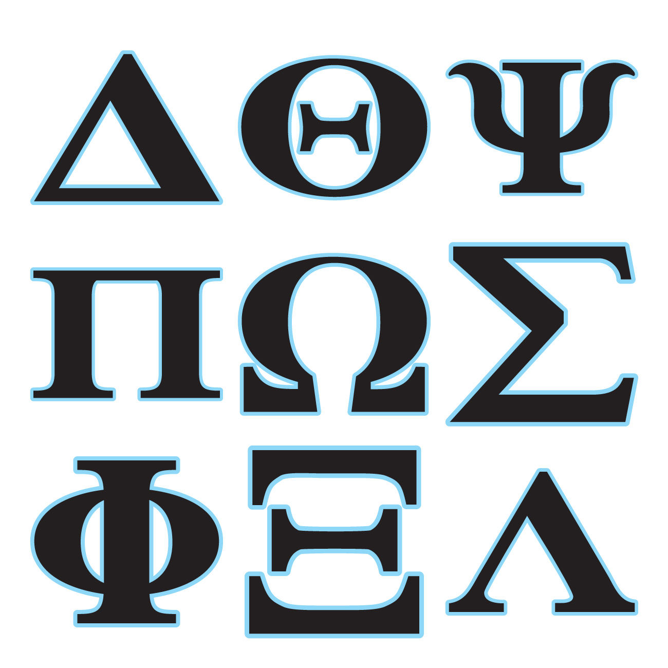 Greek Alphabet Digital Set