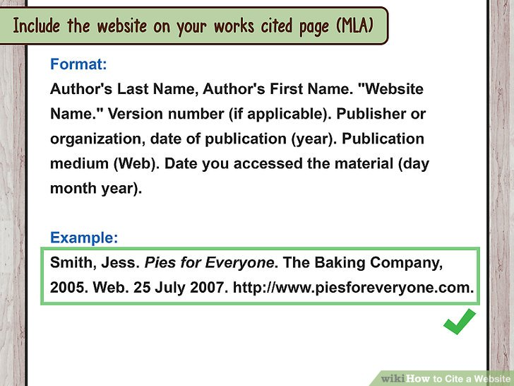 How to Cite a Website (with Sample Citations) wikiHow