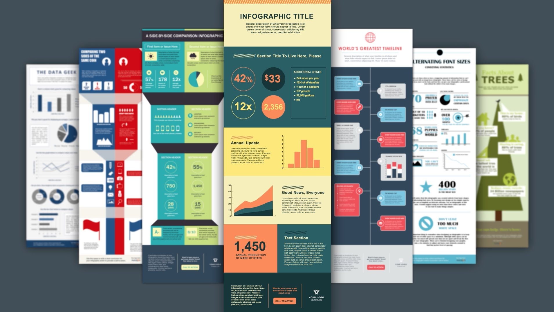 Infographic template with pears Vector | Free Download
