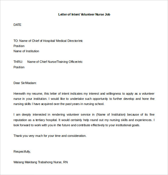 31+ Letter of Intent for a Job Templates PDF, DOC | Free