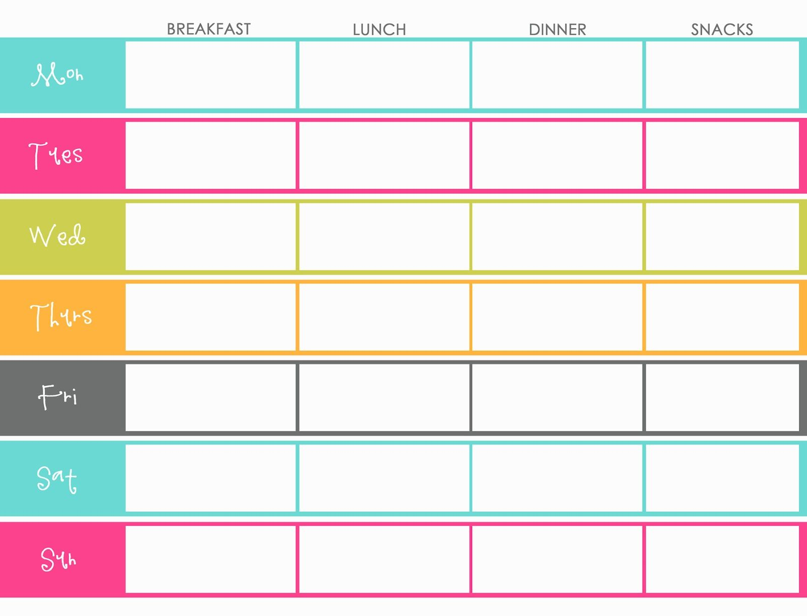 meal planning calendar template Kleo.beachfix.co