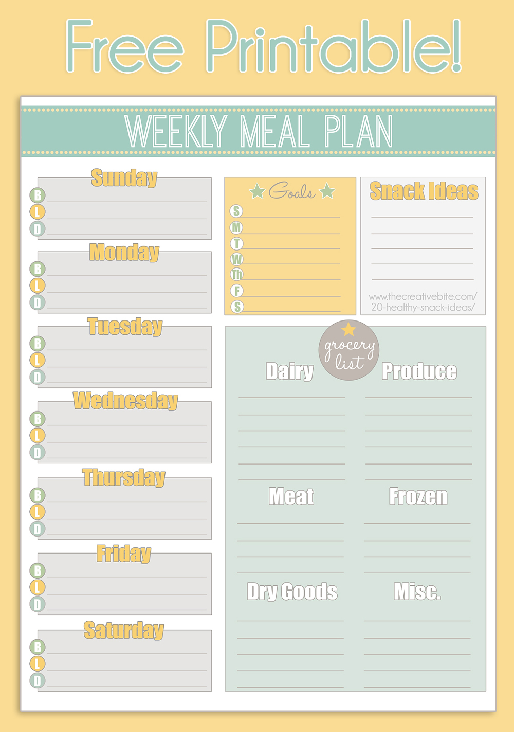 Little Housewife: Hints and Tips Meal Planning … | Meal planning