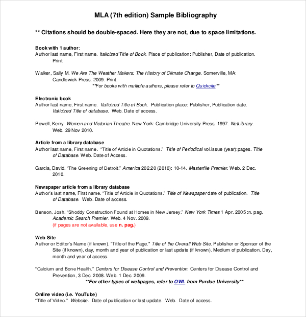 sample mla bibliography Kleo.beachfix.co