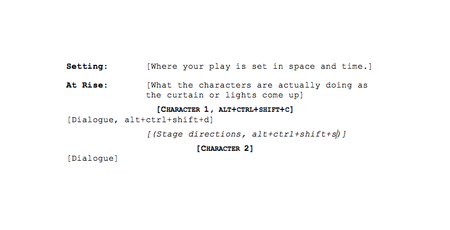 How to format your script | Playwrights' Center