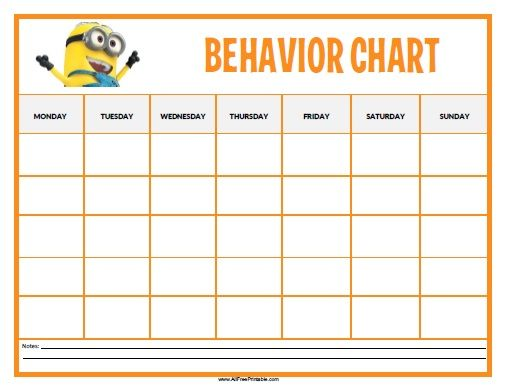 Free Printable Minions Behavior Chart | Toddlers and forward