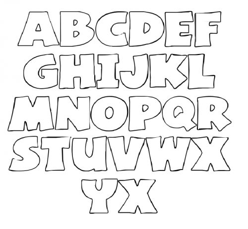 Letters Stencil For Coloring | Make It | Pinterest | Printable