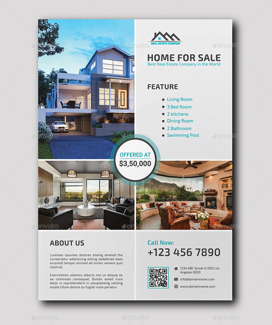 Real Estate Flyer by ResearchStudio | GraphicRiver