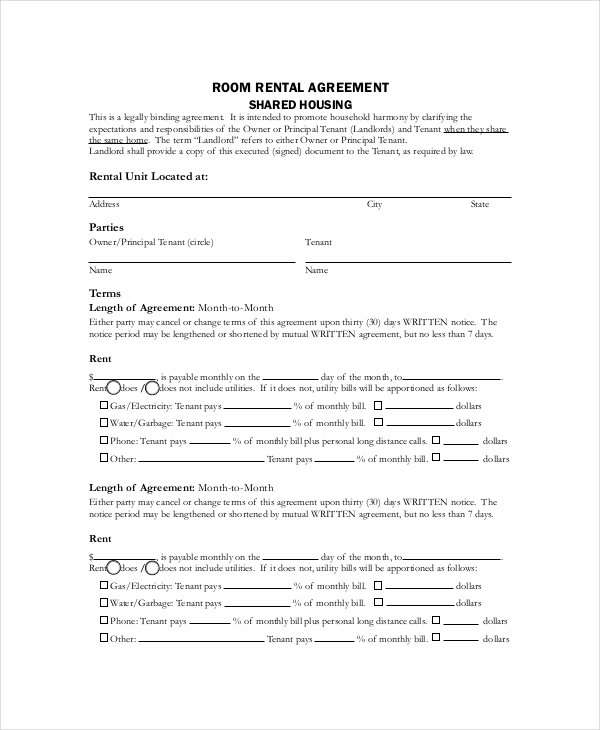 Lodger Rental Agreement Template Schreibercrimewatch.org