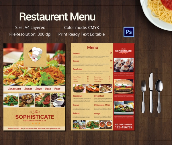 Dinner Menu Template Restaurant Menu Templates Zoro Blaszczak