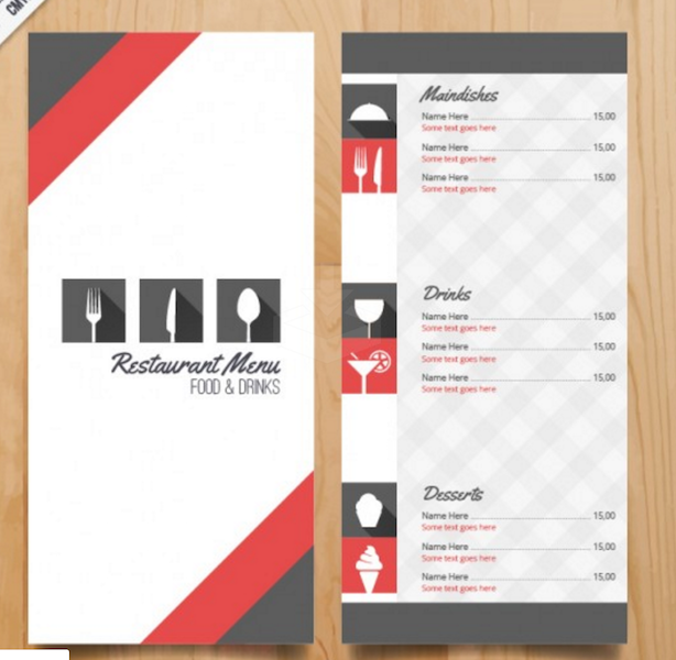 Restaurant Menu Template Restaurant Menu Templates Zoro Blaszczak