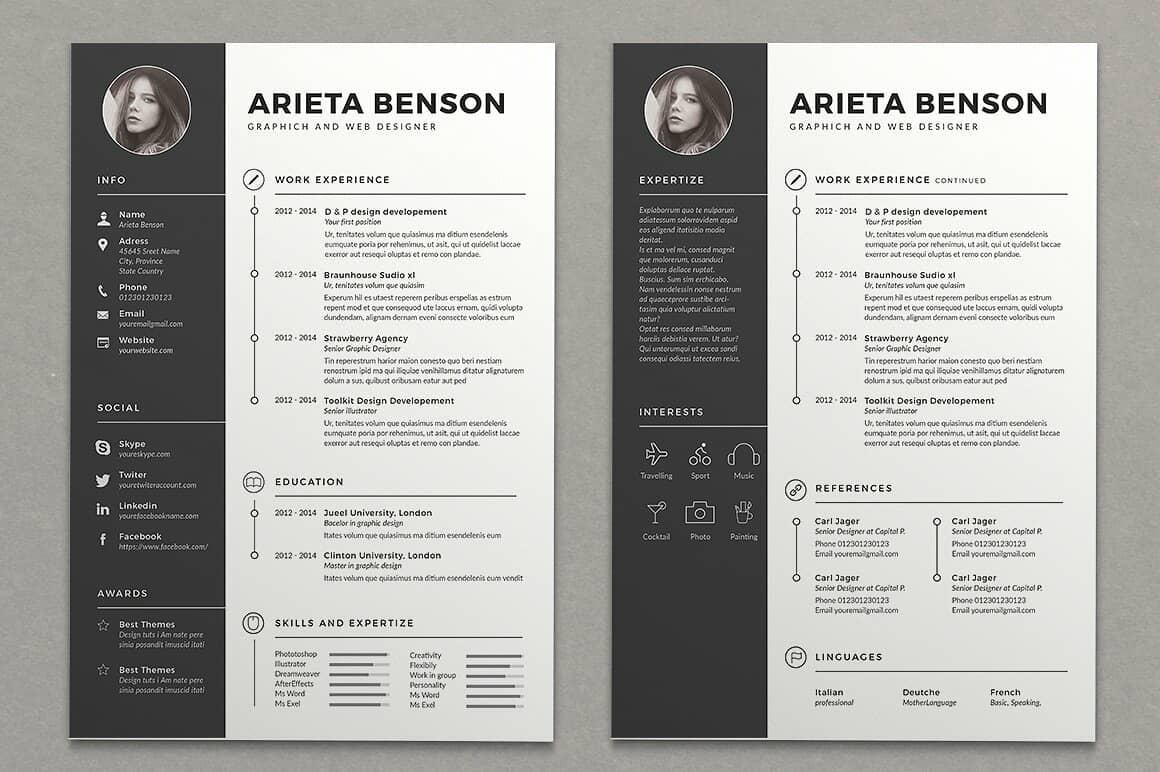 15+ Resume Design Ideas, Inspirations & Templates【How to Tutorial】
