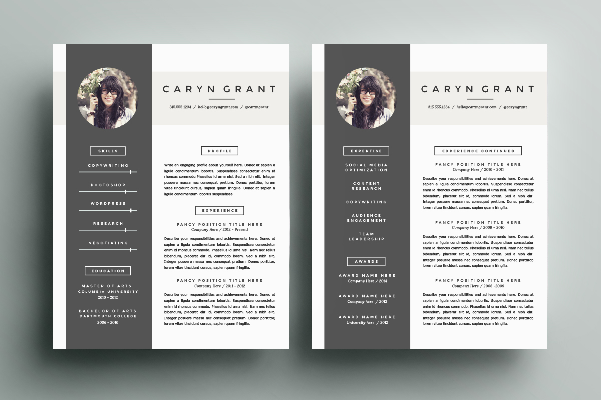 70 Well Designed Resume Examples For Your Inspiration