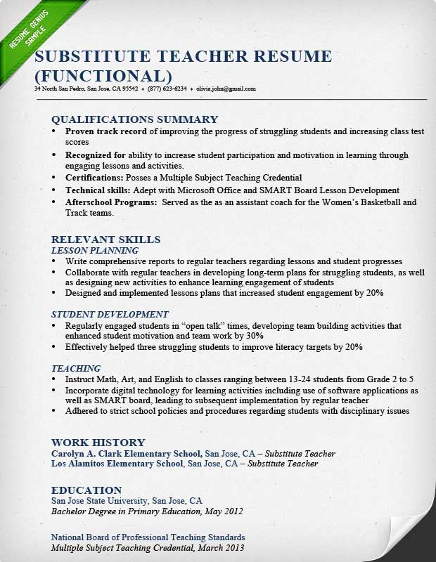 Teacher Resume Samples & Writing Guide | Resume Genius