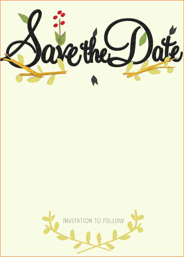 Wedding Save the Date Templates in Word for free!