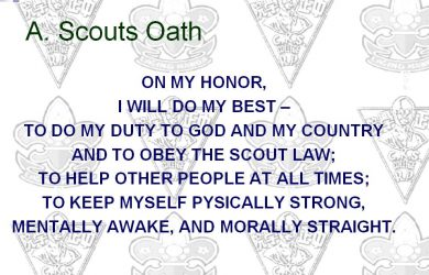 photo regarding Scout Law Printable named scout oath and legislation printable