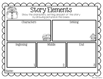 Story Elements Kindergarten by Inspired by Kinder | TpT