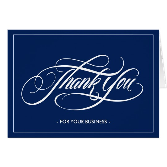 Thank You For Your Business Postcards Personalized Thank You For
