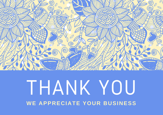 Thank You For Your Business Templates Free Villamountrose.com