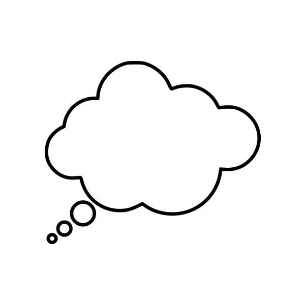 Cartoon thought bubble Vector clip art Free vector for free