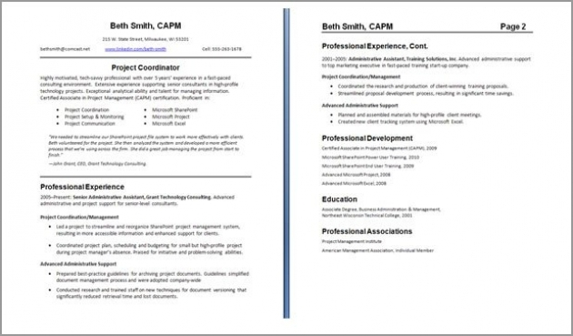 How To Format A Two Page Resume – Best Resume Template