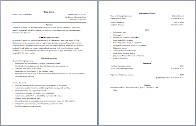 two page resume format Kleo.beachfix.co