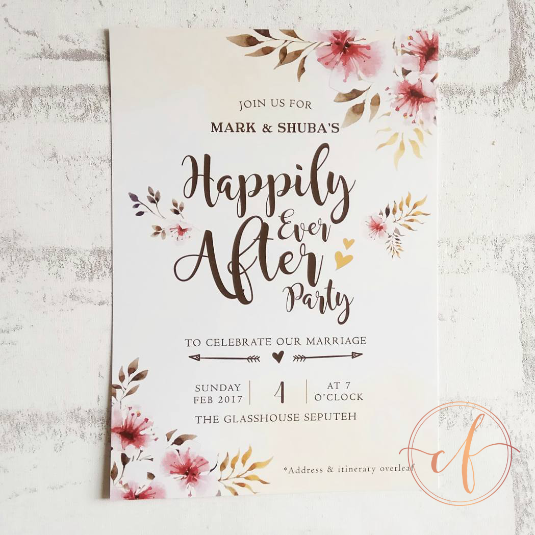 Wedding Card Malaysia | Crafty Farms Handmade : Happily Ever After