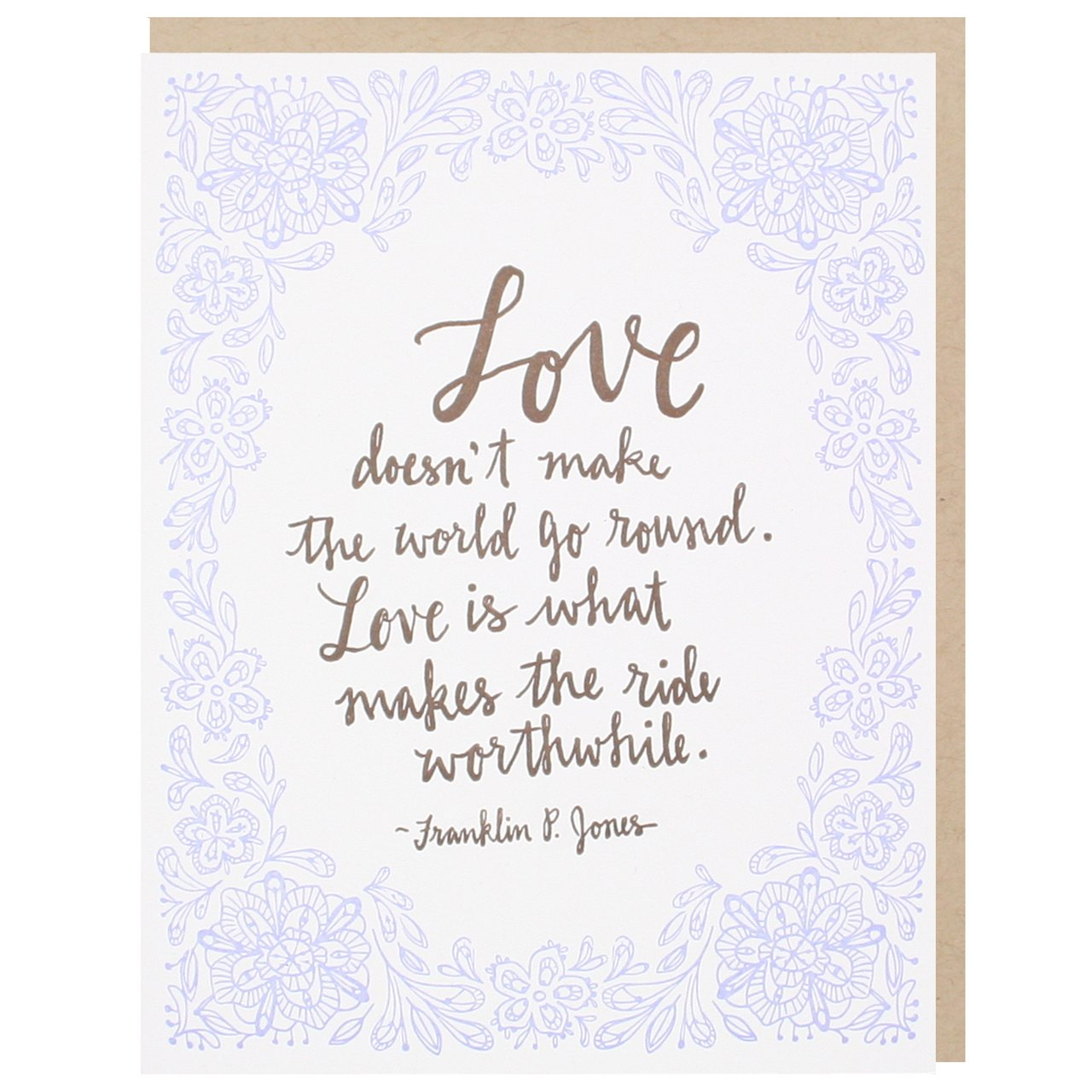 Romantic Love Quote Wedding Card | Wedding Congratulations