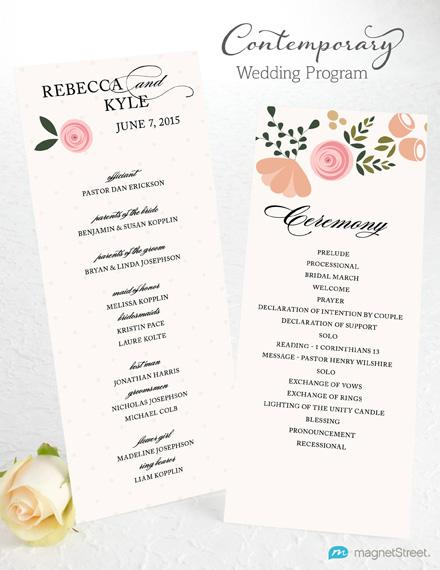 Wedding Programs Examples on Wedding Programs Sample Front Wedding
