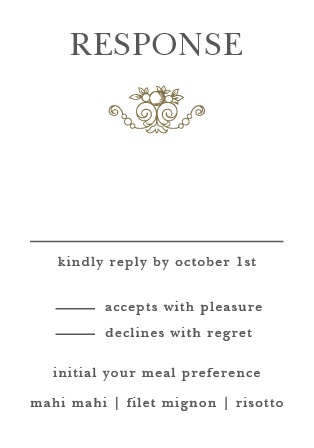 Wedding RSVP Cards | Match Your Color & Style Free! Basic Invite