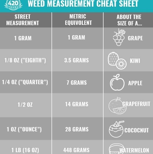 Weed Measurements: A Complete Guide | My 420 Tours regarding Weed